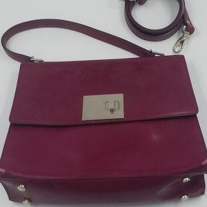 Lamarthe Dark Magenta Patent Leather Bag